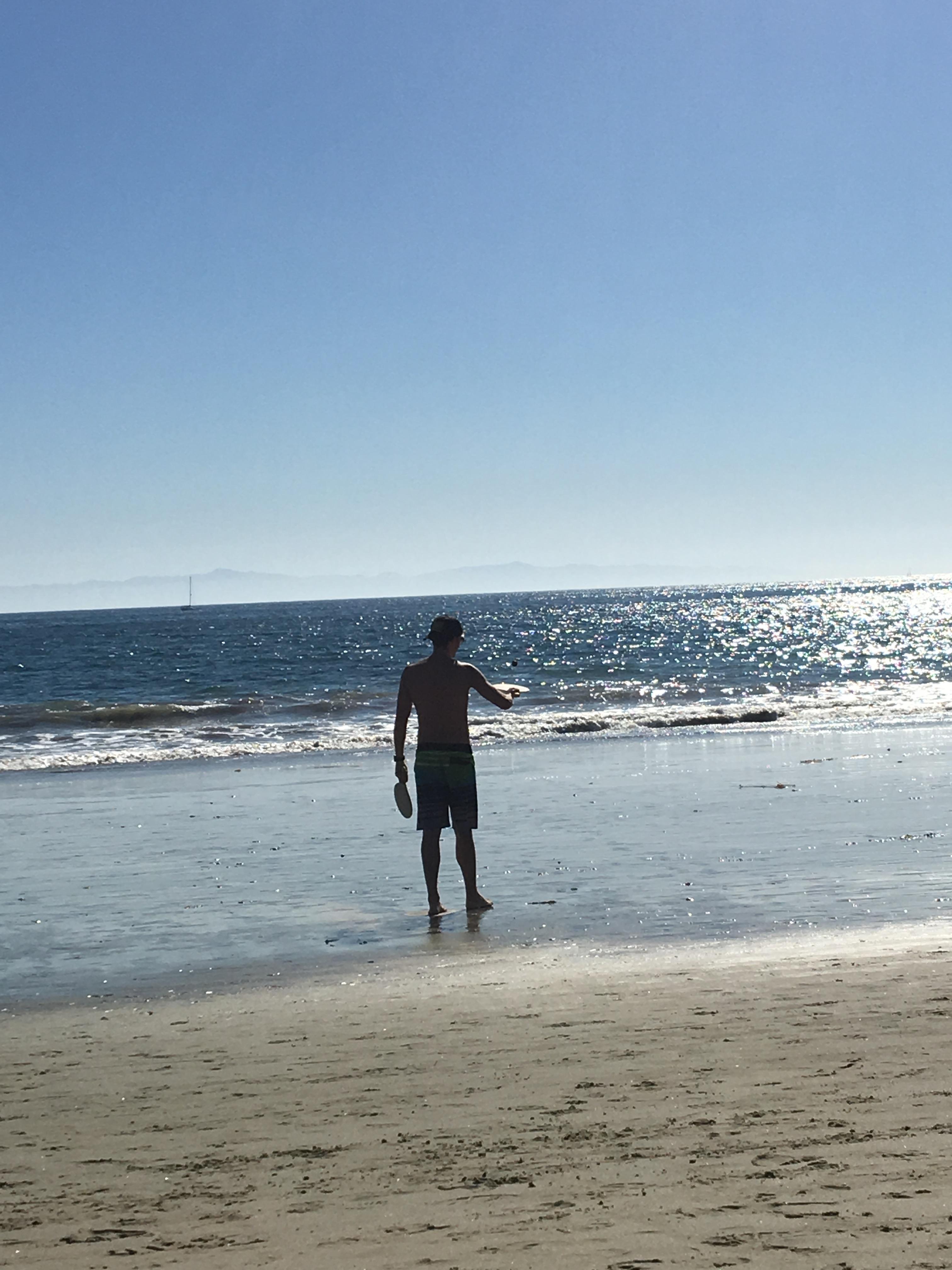 kendrick on beach
