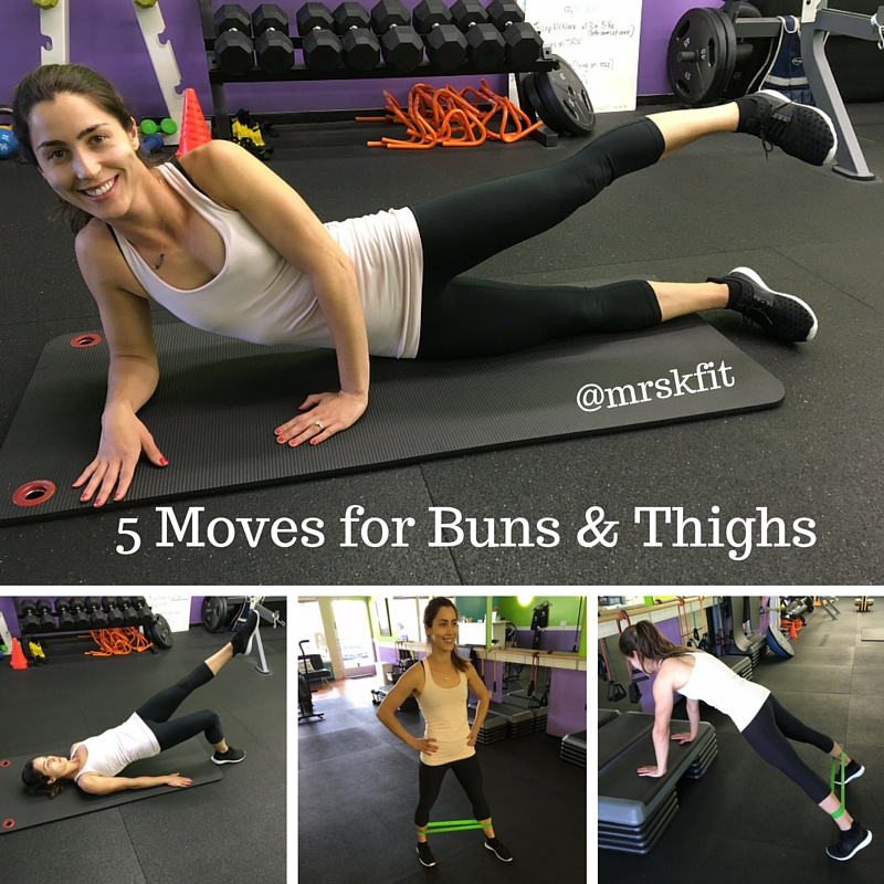 5 Moves for Buns & Thighs
