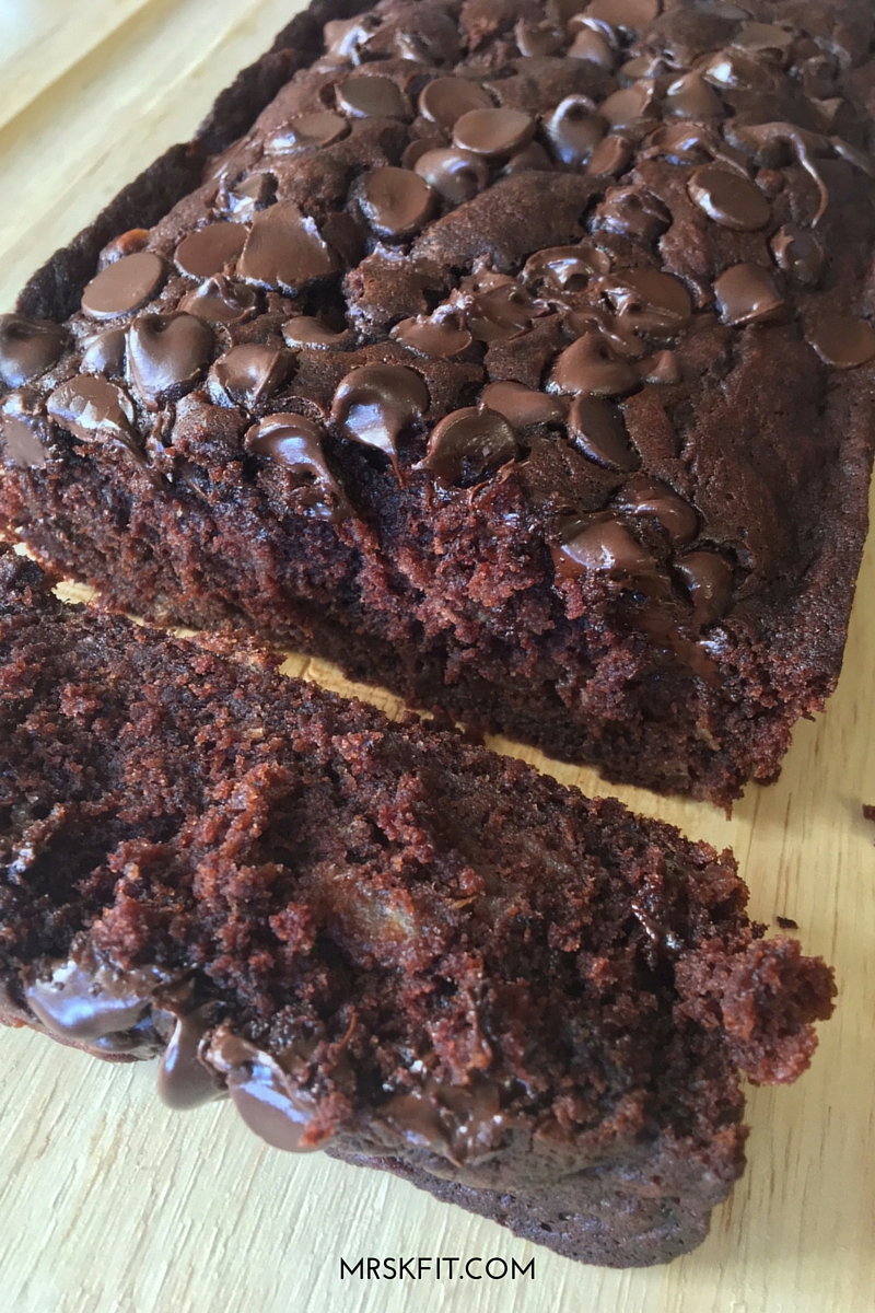 chocolate banana bread with logo